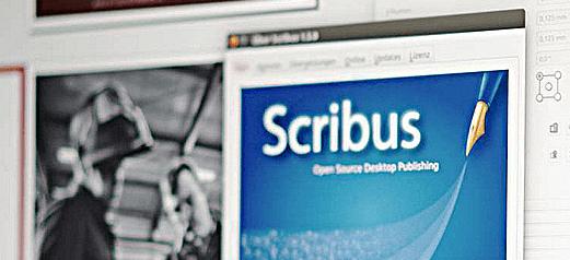 Scribus, pantalla principal