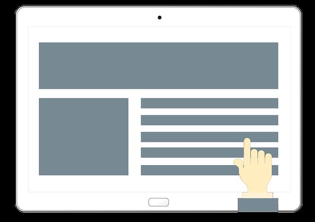 Secciones de una página web