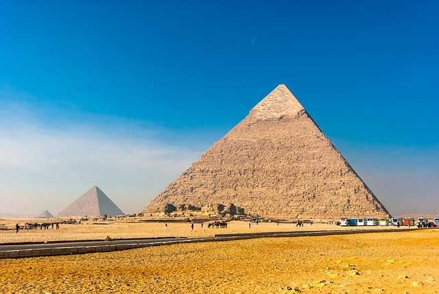 Pirámides de Giza. Egipto.
