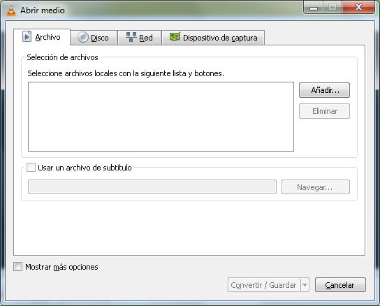 Extracción de audio de un vídeo con VLC