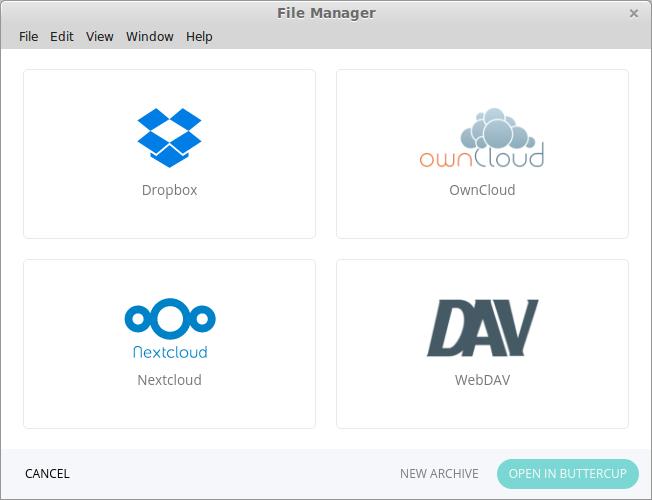 Buttercup: abrir y guardar datos en la nube