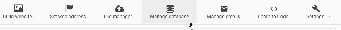 Menú principal del hosting 000webhost