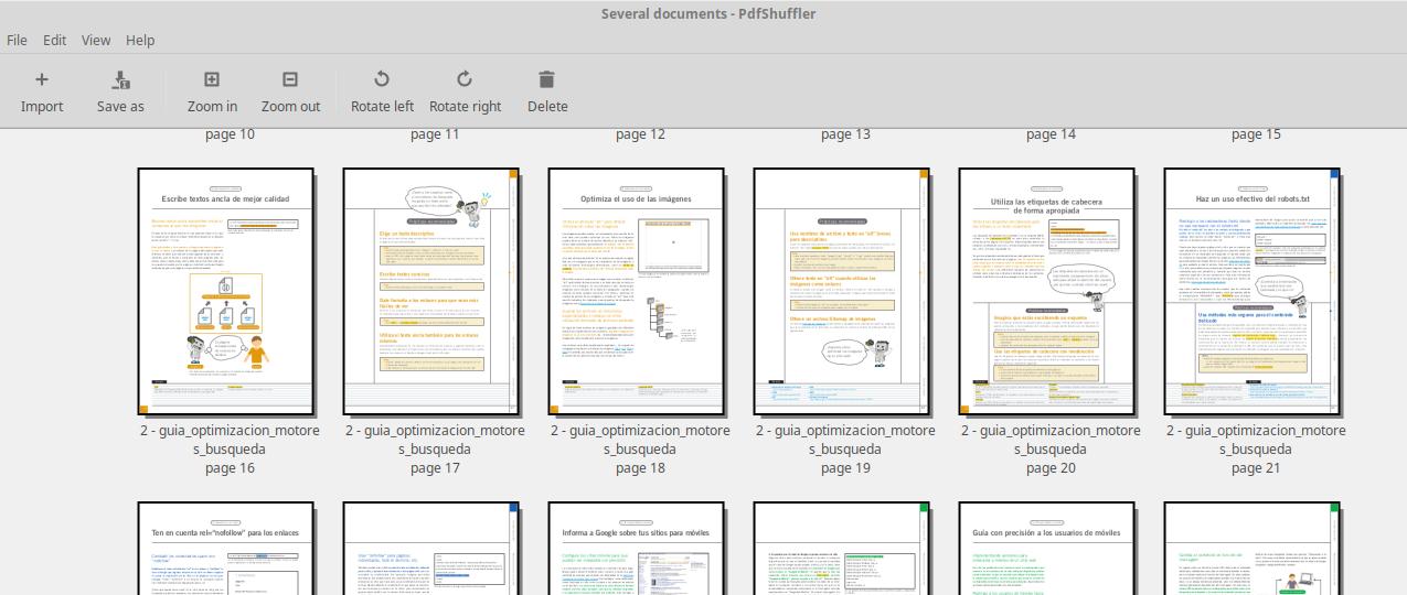 PDF-Shuffer, visión general del programa